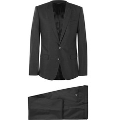 Dolce & Gabbana - Charcoal Slim-Fit Virgin Wool and Silk-Blend Three-Piece Suit