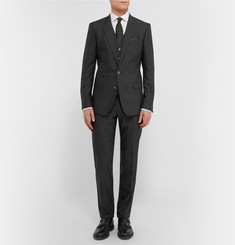 Dolce & Gabbana Charcoal Slim-Fit Virgin Wool and Silk-Blend Three-Piece Suit