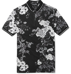 Dolce & Gabbana - Slim-Fit Floral-Print Cotton-Piqué Polo Shirt