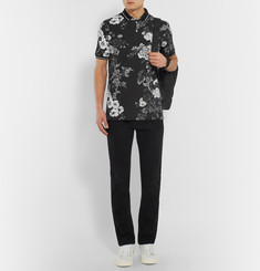 Dolce & Gabbana Slim-Fit Floral-Print Cotton-Piqué Polo Shirt