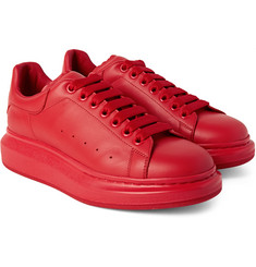 Alexander McQueen - Exaggerated-Sole Leather Sneakers