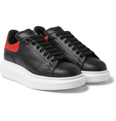 Alexander McQueen - Exaggerated-Sole Perforated Leather Sneakers