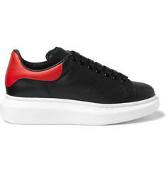 Alexander McQueen Exaggerated-Sole Perforated Leather Sneakers