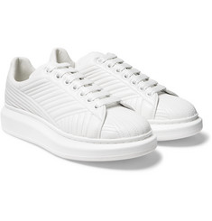 Alexander McQueen - Exaggerated-Sole Stitch-Detailed Leather Sneakers