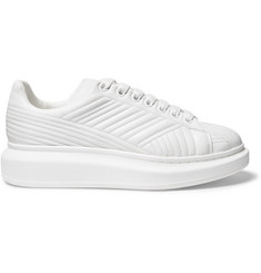 Alexander McQueen Exaggerated-Sole Stitch-Detailed Leather Sneakers