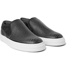 Alexander McQueen - Studded Leather Slip-On Sneakers