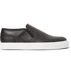 Alexander McQueen Studded Leather Slip-On Sneakers