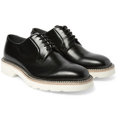 Alexander McQueen Polished-Leather Derby Shoes