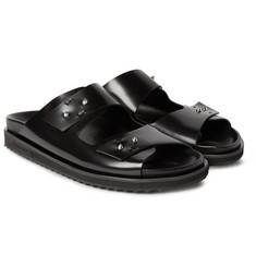 Alexander McQueen Polished-Leather Sandals