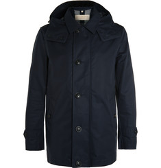 Burberry Brit - Hooded Cotton-Blend Raincoat