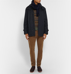 Burberry Brit Hooded Cotton-Blend Raincoat
