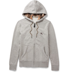 Burberry Brit Cotton-Blend Jersey Hoodie