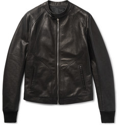 Rick Owens - Panelled Grained-Leather Jacket