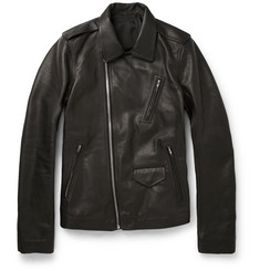 Rick Owens Stooges Grained-Leather Jacket