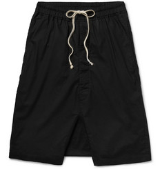 Rick Owens Stonewashed Cotton Shorts