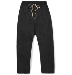 Rick Owens Drop-Crotch Tech-Canvas Trousers