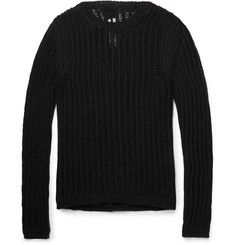 Rick Owens - Slim-Fit Open-Knit Cotton-Blend Sweater
