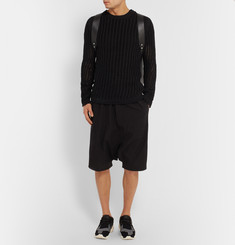 Rick Owens Slim-Fit Open-Knit Cotton-Blend Sweater