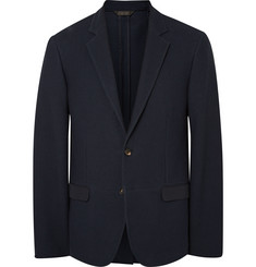 Calvin Klein Collection - Navy Karl Slim-Fit Textured Stretch-Cotton Blazer