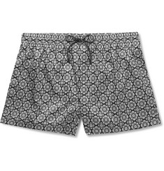 Dolce & Gabbana - Medallion-Printed Short-Length Swim Shorts