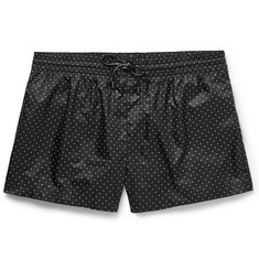Dolce & Gabbana - Short-Length Polka-Dot Swim Shorts
