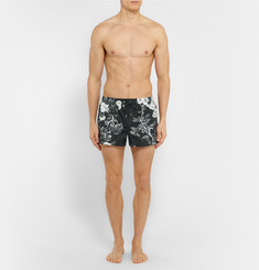 Dolce & Gabbana Printed Short-Length Swim Shorts