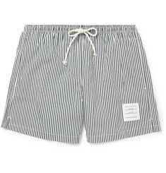Thom Browne Striped Seersucker Swim Shorts