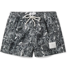 Thom Browne Printed Short-Length Swim Shorts