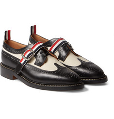 Thom Browne - Spectator Leather and Twill Wingtip Brogues
