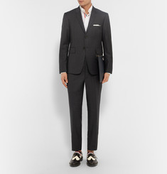Thom Browne Spectator Leather and Twill Wingtip Brogues