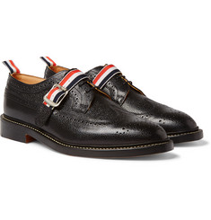 Thom Browne - Pebble-Grain Leather Wingtip Brogues