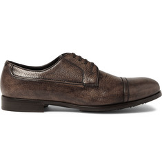 Dolce & Gabbana Burnished Grained-Leather Derby Shoes