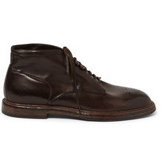 Dolce & Gabbana - Brogue-Detailed Leather Boots