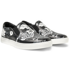 Dolce & Gabbana - Floral-Print Leather Slip-On Sneakers