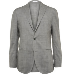 Boglioli Grey Dover Slim-Fit Checked Wool Suit Jacket