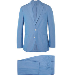 Boglioli - Blue Slim-Fit Cotton Suit