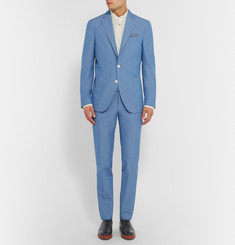 Boglioli Blue Slim-Fit Cotton Suit