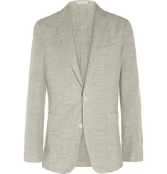 Boglioli - Grey Dover Slim-Fit Slubbed Silk-Blend Blazer