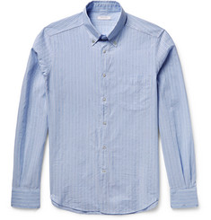 Boglioli Slim-Fit Striped Cotton and Linen-Blend Shirt