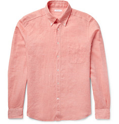 Boglioli Slim-Fit Slub Linen and Cotton-Blend Shirt