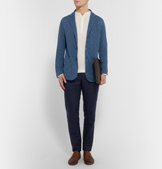 Boglioli Slim-Fit Knitted Linen Blazer