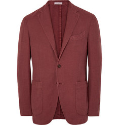 Boglioli - Brick Slim-Fit Cotton and Linen-Blend Hopsack Blazer
