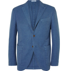 Boglioli - Blue Slim-Fit Cotton and Linen-Blend Hopsack Blazer