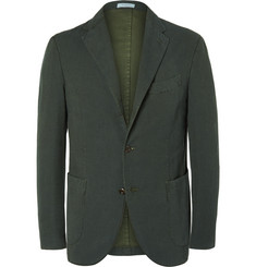 Boglioli Green Slim-Fit Stretch-Cotton Corduroy Suit Jacket