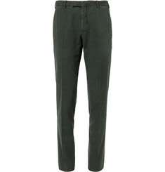 Boglioli - Green Slim-Fit Stretch-Cotton Corduroy Suit Trousers
