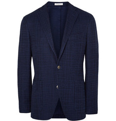 Boglioli Midnight-Blue Dover Slim-Fit Cotton Blazer