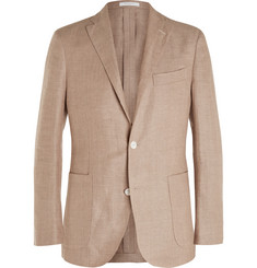 Boglioli - Beige Dover Slim-Fit Linen and Wool-Blend Hopsack Blazer