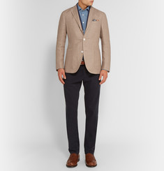 Boglioli Beige Dover Slim-Fit Linen and Wool-Blend Hopsack Blazer