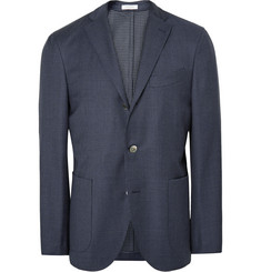 Boglioli - Blue Dover Slim-Fit Puppytooth Virgin Wool Blazer