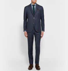 Boglioli Blue Dover Slim-Fit Puppytooth Virgin Wool Blazer